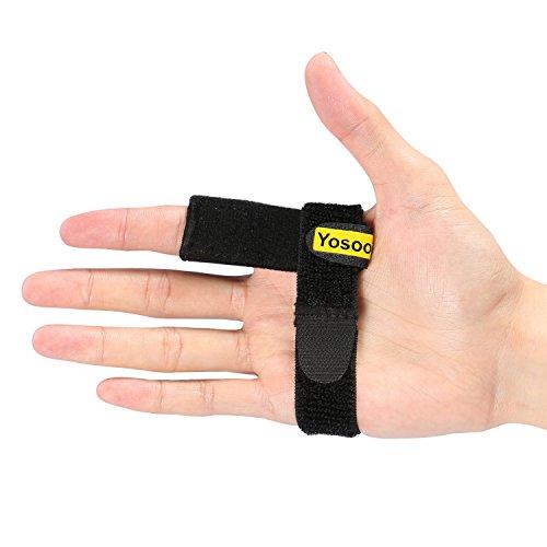 Verstelbare vingerbeschermer, vingerspalkhouder met aluminium klittenbandstrips