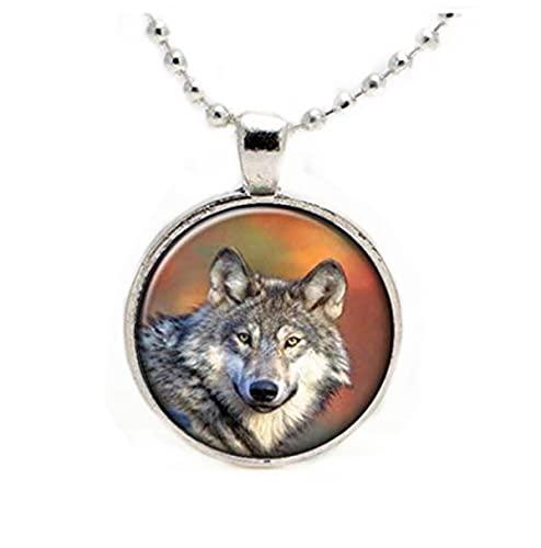 Leonid Meteor - Colgante de cristal para ducha, diseño de cara de lobo gris, hecho a mano, un...