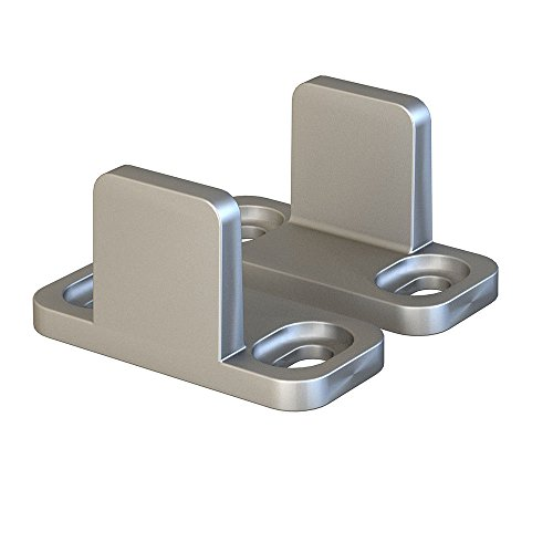 JUBEST Floor Guide for Sliding Barn Door Hardware Silver Aluminum Set of 2
