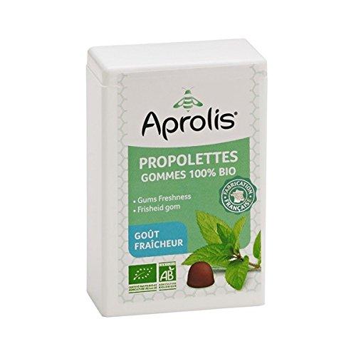 Gommes Bio pour la Gorge Fraîcheur - Propolis, Eucalyptus et Menthe - 50g