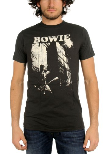 David Bowie - Hombres camiseta de la guitarra En Carbón, Small, Coal