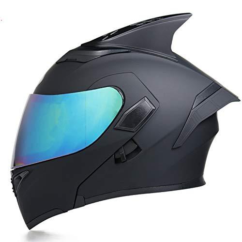GAOZHE Casco Moto Modula,Casco de Moto Integral Scooter para, ECE Homologado Casco de Moto Integral Scooter para Mujer Hombre Adultos con Doble Visera Mate