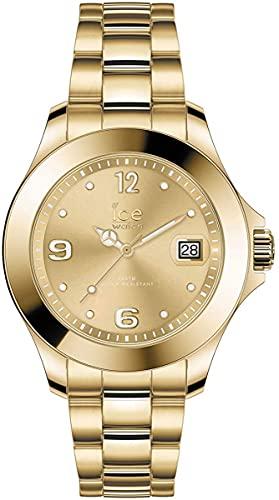 ICE-WATCH Ice Steel Light Gold - Reloj Dorado para Mujer con Correa de Metal, 017319 (Small)