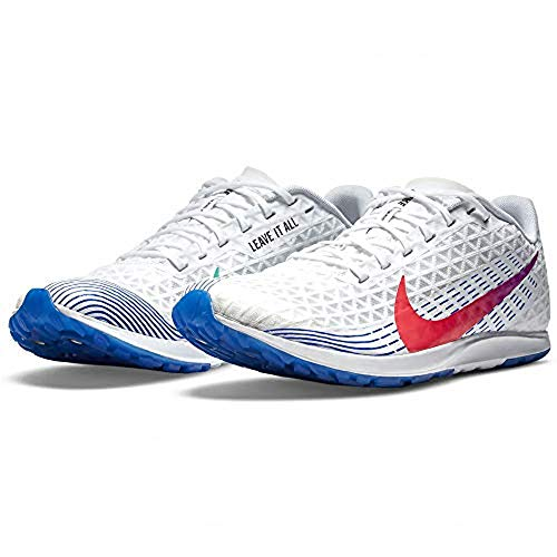 Nike Zapatillas Zoom Rival XC Track Spike para hombre, AJ0851-101, blanco (White/Flash Crimson/Black), 42 EU