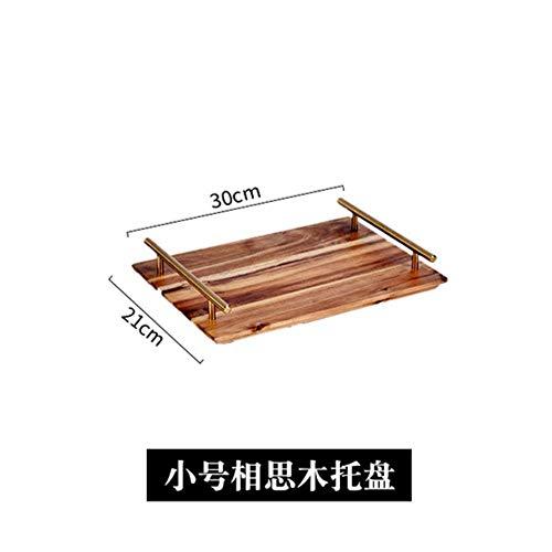 BBZ 1 stück Japanische Akazienbrett Kuchen Platte Rechteck Brotteller Sushi Massivholz Obstteller Teller, 38,5
