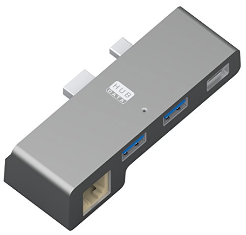 HUB 2 puertos USB3.0 + 1 puerto Ethernet RJ45 + 1 puerto Display Port para Microsoft Surface PRO 4 y Surface PRO (2017).