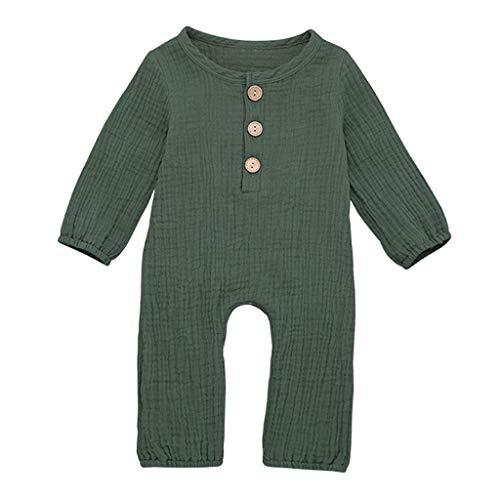 Strampler Baby Jungen Mädchen 3-24 Monate Einteilige Einteiler Babykleidung Neugeborenes Body Wickelbody Overall Babyparty Kleider Kostüm Schlafanzug Lange Nachthemd Leinen