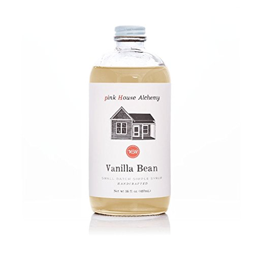 Pink House Alchemy Vanilla Bean - Simple Syrup 16 oz Cocktail Drink Mix - Use to Flavor Coffee - Hawaiian Shaved Ice - Dessert Topping - Using Only Fresh Beans (V 16)