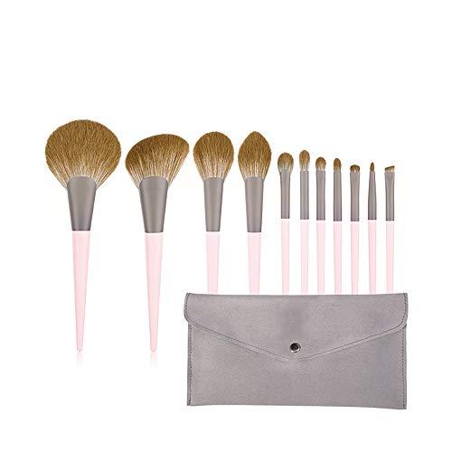 HGYLIOE 11 Poudre Brosses, Poignée Confortable, Solide en Poudre Grip, Peut être utilisé for Fard à Joues, Correcteur, Maquillage des Yeux
