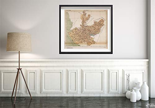1922 Map|No. 14: Jalisco|Vintage Fine Art Reproduction|Size: 22x24|Ready to Frame