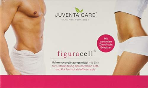 Juventa Care figuracell - Nahrungsergänzungsmittel - mit Zink zur Unterstützung des normalen Fett- und Kohlehydratstoffwechsels, 60 Kapseln