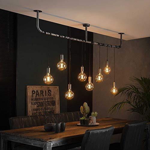 famlights Pendelleuchte Jordan, Metall 8xE27, Industrial Design   Vintage Pendellampe Wohnzimmer, Esszimmer  ...