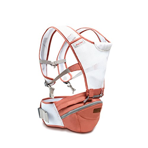 SONARIN 360°Breathable Premium Hipseat Baby Carrier,Babytrage,Ergonomisch, Mama Tasche,Breathable Mesh Backing,Gemütlich & Beruhigend für Babys, Angepasst an Ihr Kind wachsende,Ideal Geschenk(Rosa)