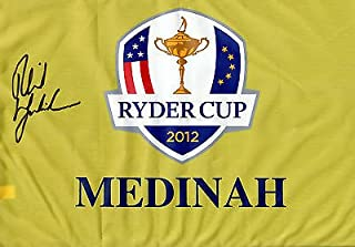 Phil Mickelson Signed 2012 Ryder Cup Flag w/JSA Letter of Authenticity Lefty