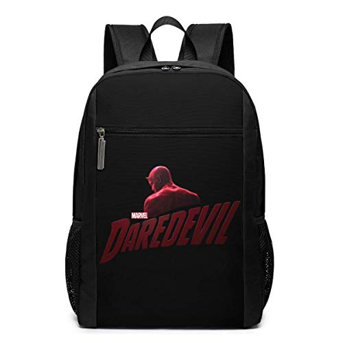 Lawenp Daredevil Netflix Logo Rucksack 17 Zoll Laptop Taschen College School Rucksack Casual Daypack für die Reise