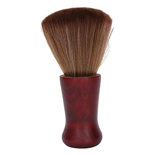 Cepillo de afeitar de barba profesional para hombres, cepillo de limpieza de pelo facial con mango de madera para peluquería o hogar