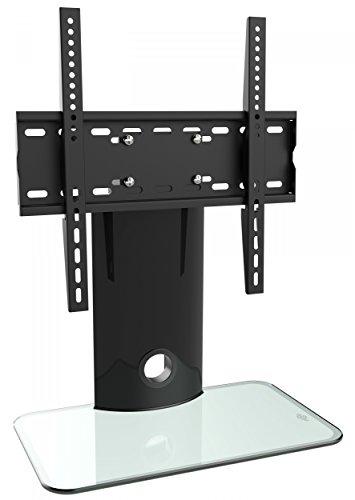 RICOO TV Halterung Fernseher-Ständer Schwenkbar (FS303-W) Universal Fernsehhalterung für 30-55 Zoll (bis 40-Kg, Max-VESA 400x400) LCD OLED Curved Bildschirm Stand-Fuss