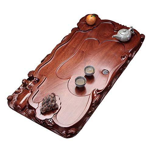 Purchase Tea-For-One Sets Tea tray Whole rosewood tea tray Solid wood tea table Draining Kung Fu Tea...