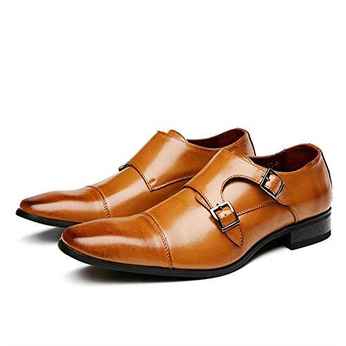 MING-BIN Zapatos cómodos for los Hombres Zapatos de Boda Doble Monk Correas...