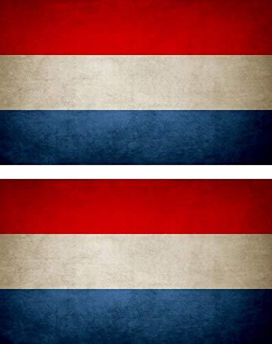 Akachafactory 2X Sticker Aufkleber Flaggen Flagge Fahne Vintage NL niederlande