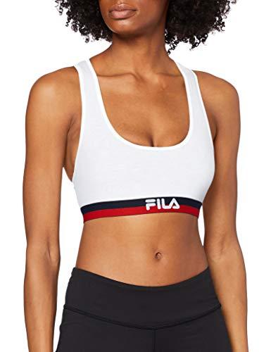 Fila 1-Pack Urban Bra Fu6048 Sujetador Deportivo, Blanco (White 300), Medium (Tamaño del Fabricante:M) para Mujer