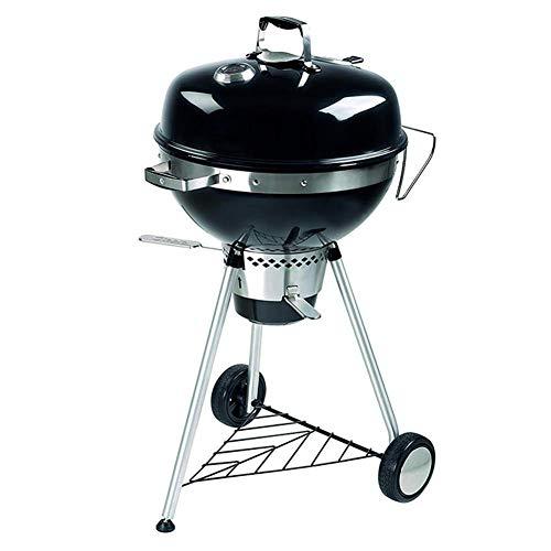 Hochwertiger Grill Barbecue Grill, Barbecue Grill, Indoor/Outdoor Elektrogrill, Außen Wilde Barbecue Grill Geräucherte Herd mit Rädern mit Deckel und Thermometer