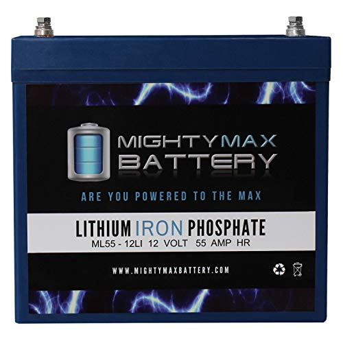 Mighty Max Battery 12V 55AH Lithium Battery Replacement for Motor Guide VariMax Trolling Brand Product