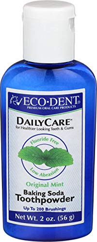 Eco-Dent Daily Care Baking Soda Toothpowder, Mint 2 oz
