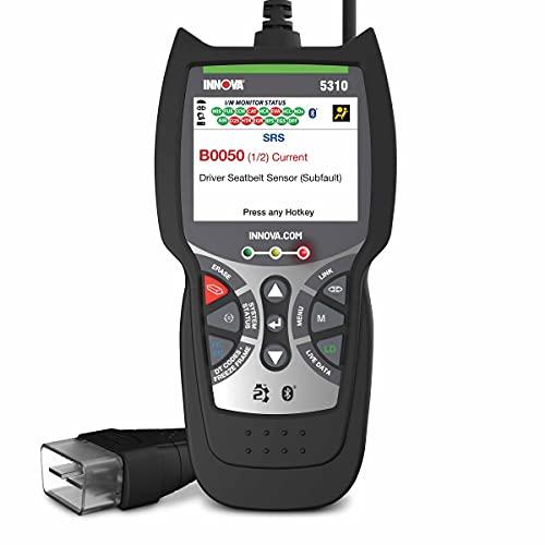 INNOVA OBD2 Scanner 5310 - Read Erase ABS/SRS Codes, Transmission, Reset Oil Light, Live Data, Battery/Alternator Test - OBDII Code Reader Diagnostic Scan Tool - Bluetooth RepairSolutions2 App