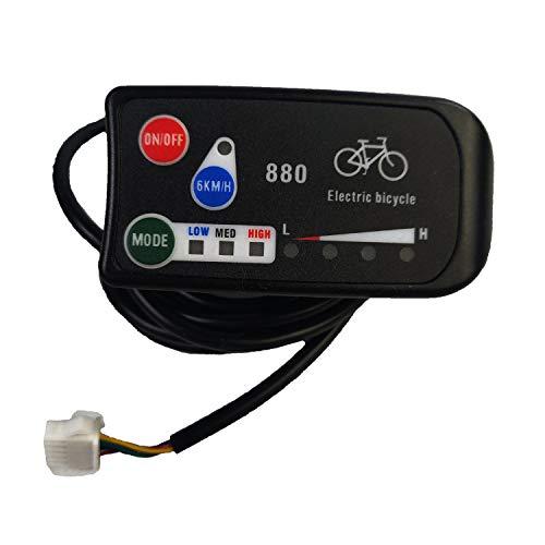 Fanuse Elektrisches Fahrrad Display 24V 36V 48V Ebike Intelligent Control Panel LCD Display LED880 Wasserdicht für KT Controller