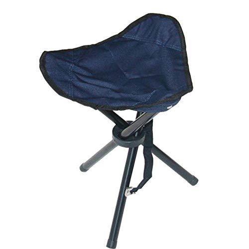 YLCJ vouwkruk, krukken vouwstatief kruk voor buiten vouwen kleine 3-benige Canvas stoel voor Camping Wandelen (kleur: Groen, Grootte: 23 * 23 * 27 cm) 23 * 23 * 27cm Blauw