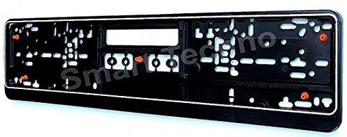 M&G Techno Soporte de matrícula Negro con Goma, antivibración, Modelo 3306