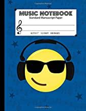 Music Notebook Standard Manuscript Paper: For Teens & Kids - 12 Staves Per Page (Large 8.5