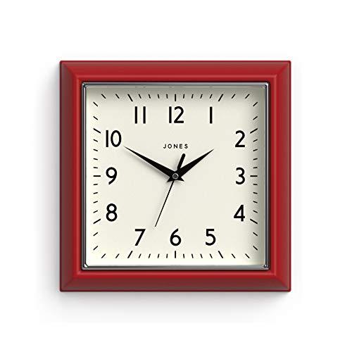 Jones Clocks   Reloj Mostaza   Rojo
