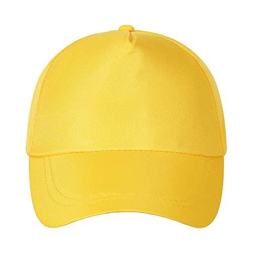 N/B Baseballmütze für die Freizeit, einfarbig, Stickerei für Werbemütze, Reisehut für Sonnenschirm adjustable gelb