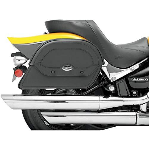 Saddlemen 3501-0437 Cruis'N maßgefertigte Satteltasche, groß, schräg, schwarz, Large