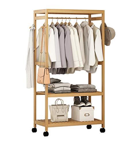 Kapstok, multifunctionele mantel, massief houten ophangsysteem, bodem, bamboevloer, hanger, slaapkamer, woonkamer, hout, kleur A-rek ++ (maat: 99cm) 79 cm.