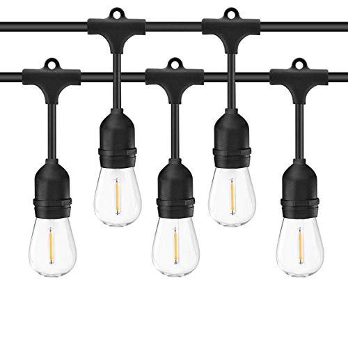 SALCAR 15m Außen LED Lichterkette Garten, 15 x E27 LED Glühbirnen IP65, Deko Lampe Wasserdicht Dekolampe für Haus Dekoration, Party, Hochzeit, Grill, Weihnachten