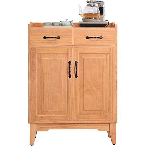 NgMik Muebles Modernos Madera Accent Buffet aparador Sirviendo Armario con Puertas de Entrada Cocina Comedor Consola de la Sala de Estar Aparador (Color : Wood, Size : 67x35x94cm)
