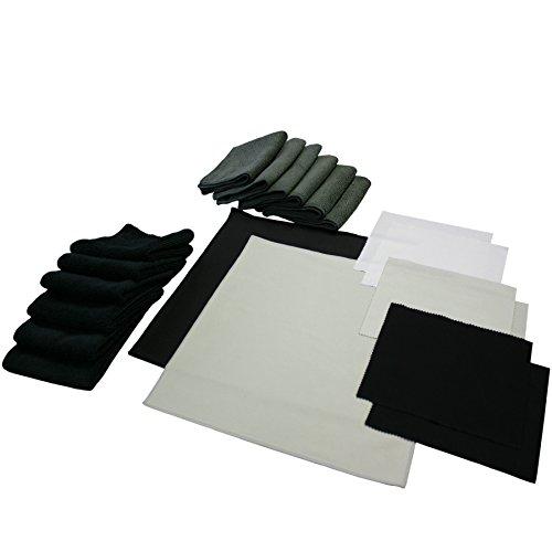 The Rag Company - Professional Microfiber Firearm/Gun/Reel Cleaning & Maintenance Kit - Huge Assortment of Hunting & Fishing Equipment Towels & Cloths (20-Piece)