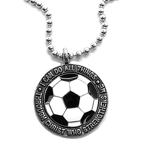 FORGIVEN JEWELRY Soccer Necklace I Can Do All...