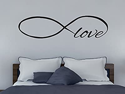 Wall Decor Plus More Infinity Love Large Wall Decal Sticker for Home Decor