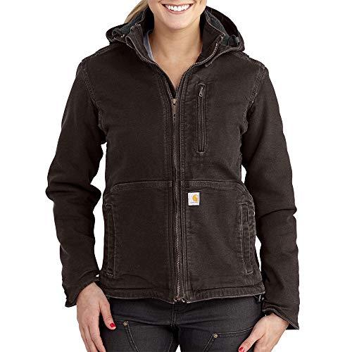 Carhartt Women's Full Swing Caldwell Jacket (Regular Sizes), Dark Brown/Shadow, XX-Large Plus