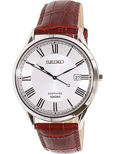 Seiko Reloj de Cuarzo para Hombre con Correa de Cuero – SG