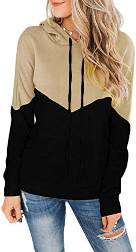 Tengo Womens Long Sleeve Color Block Hoodies...