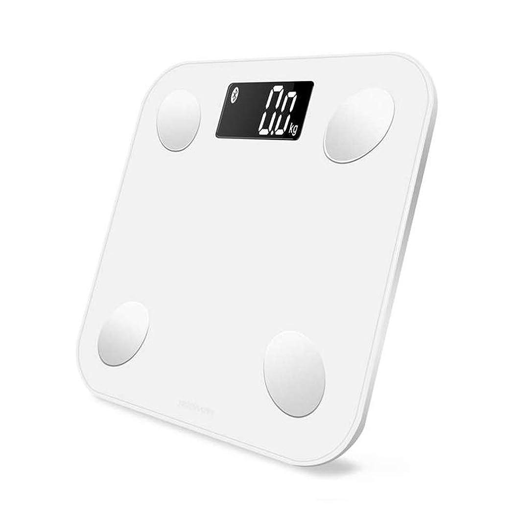 ベンチ野球卑しいスマートバックライト付きディスプレイ体重体重体脂肪水分筋肉量11x11x0.75インチ - ホワイト