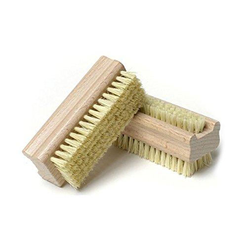GESUND Nagelbürste Holz Doppelseitige Borsten Fingernagelreiniger Handschrubber Reinigungsbürsten