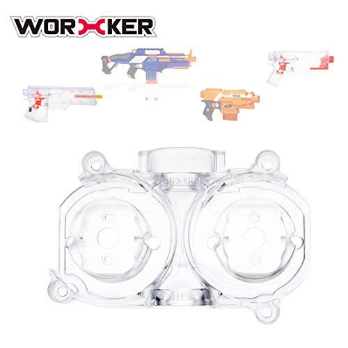 LoKauf Worker Mod Schwungrad Käfig/Flywheel Cage für Nerf Stryfe/Nerf Rapidstrike CS-18/Worker Swordfish/Worker Dominator - Transparent