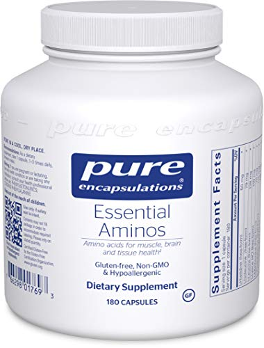 Pure Encapsulations - Essential Aminos - Hypoallergenic Supplement to Support Healthy Muscle and Tissue - 180 Capsules