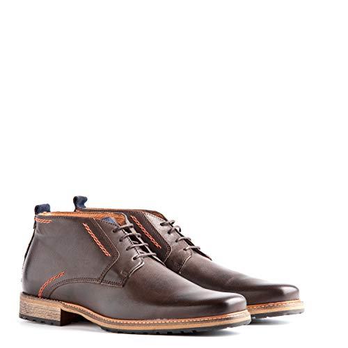 Travelin' London Leder Chukka Boots - Business Schuhe mit Schnürsenkel - Braun EU 50